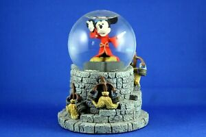 """Disney Snow Globe """"Sorcerer's Apprentice Mickey Mouse"""" with Dancing Broomsticks"""
