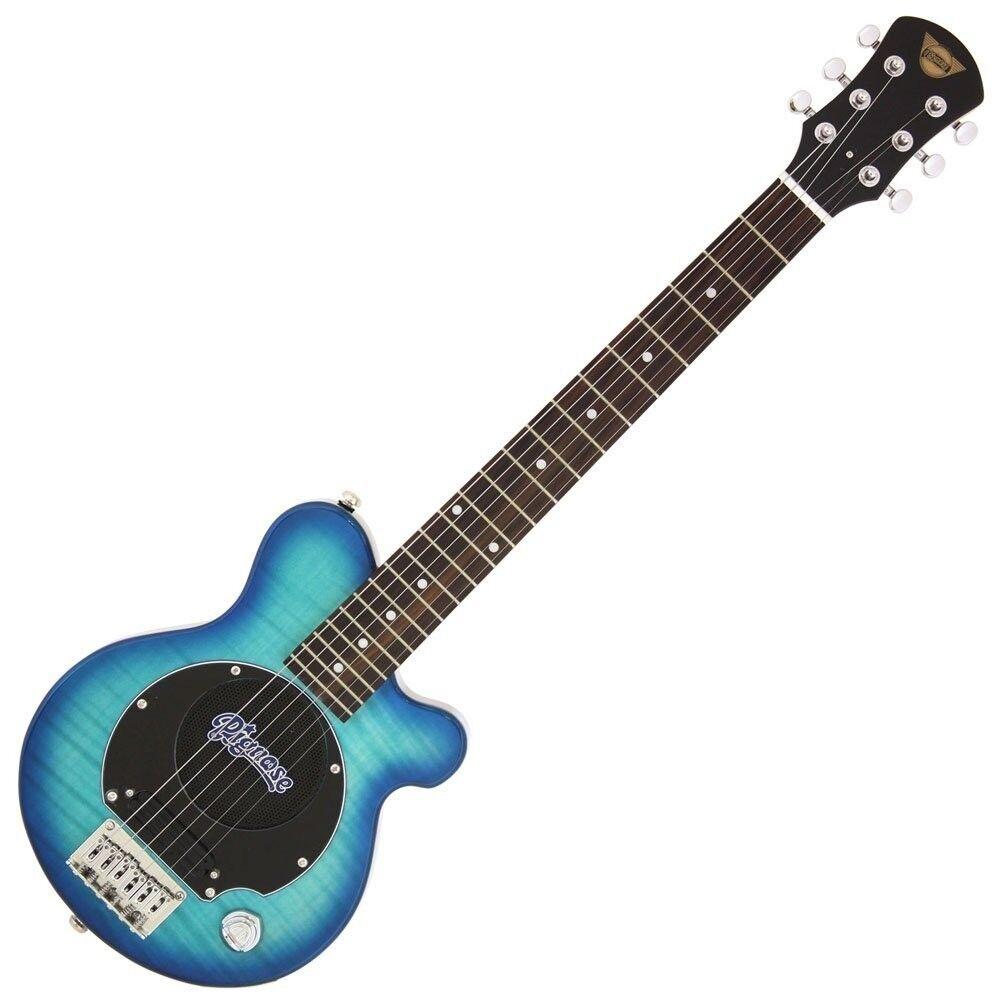 Neu Pignose Pgg-200fm Sbl Mini Reise E-Gitarre Integriertes Amp