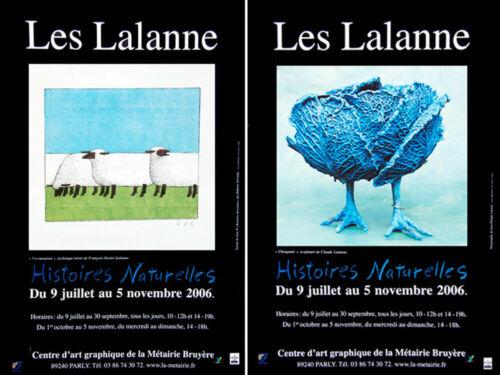 Lalanne lot 2 Affiches François-Xavier et Claude Lalanne Poster Lalanne