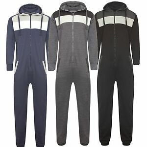 NEW-MENS-LADIES-HOOD-ZIP-PANEL-ONE-PIECE-PLAY-SUIT-JUMPSUIT-ALL-IN-ONE-BODY-SUIT