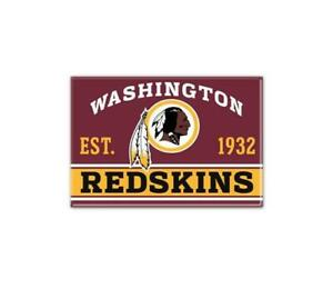 Washington-Redskins-Foto-Magnet-mit-Logo-NFL-Football-Team-Gruendungsjahr