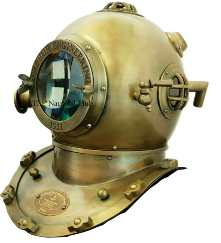 US Navy Antique Maritime Reproduction Diver Deep Sea Marine Mark V Diving Helmet