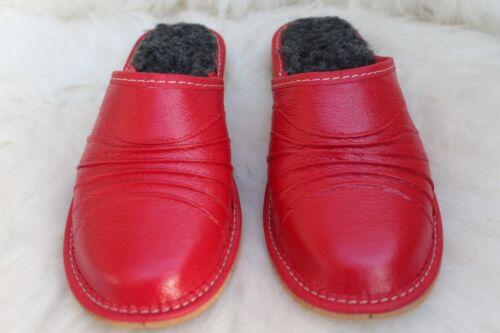 Wollfilz 1 Rot Alle Größen Damen Eco Sheeps Warme Damen LeatherNatural Hausschuhe OkZiPXu
