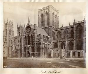 Angleterre-York-la-cathedrale-Vintage-albumen-print-Tirage-albumine-1
