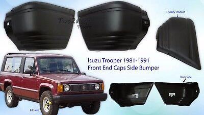 New Isuzu Trooper Rodeo Bighorn Side Bumper End Caps 1981 1990 1 Pairs Lh Rh Oem Ebay
