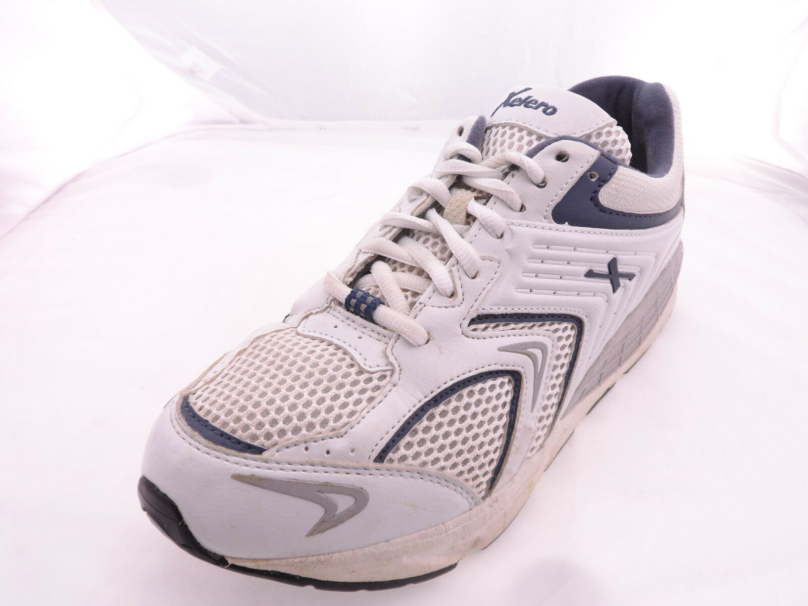 Men's Xelero Matrix Mesh Lace Up Sneaker, Size  8.5 D, White bluee