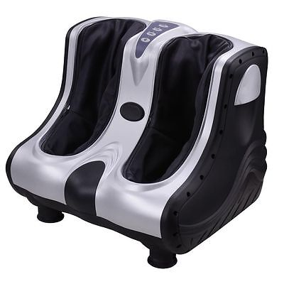 Shiatsu Kneading Rolling Vibration Heating Foot Calf Leg Massager Beauty Black