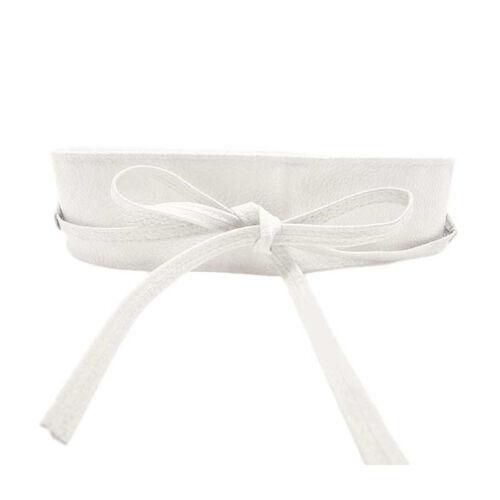 Damen Bow Hüftgürtel Leder Taillengürtel Breit Wickelgürtel Kleid  Bindegürte