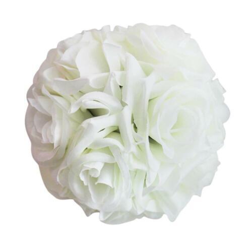 Fleur boule artificiel Rose Boules Couronne pour Mariage Salle De Fête Décoration