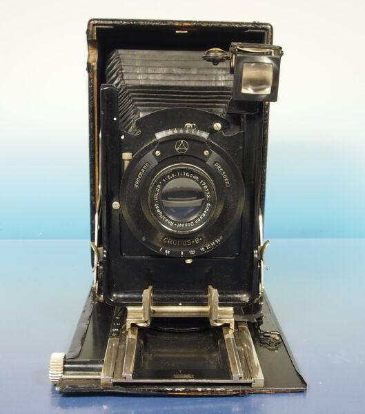 100% De Qualité Cronos B Disques Caméra Camera Ernemann Double Anastigmat Vilar 6.8/16.5cm - 42559