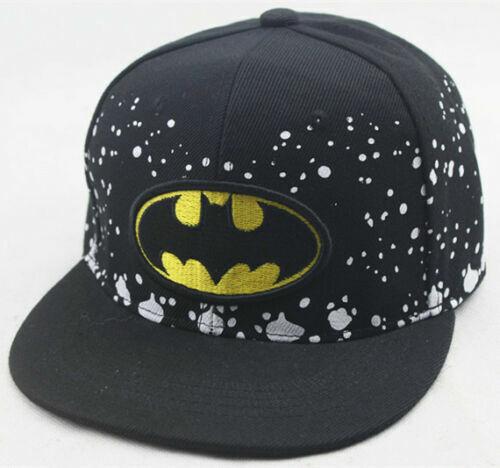 BATMAN Boy Girl Adjustable Baseball SCHOOL Cap Kids Snapback Children Sports Hat