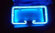 Elegant Blue Neon License Plate Frame Best Glow Car Show Light PlasmaGlow