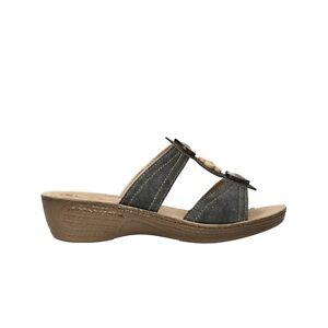 INBLU Ciabatte zeppa nero scarpe donna mod GL15