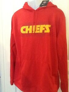 new arrival c10f8 283bf Details about NWT Men's Nike Therma Fit Kansas City Chiefs NFL Hoodie  Sweatshirt $75 L, New!