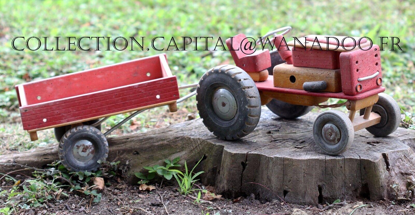 Dejou Tracteur Agricole avec remorque N°753 De De De 1957à 1959 2e1d96