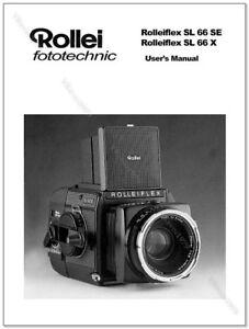 user manual for rollei sl66x sl66se medium format slr camera ebay rh ebay com Rolleiflex Camera Digital Cameras Product