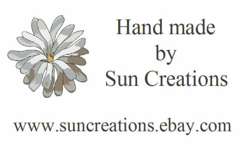 Design 16 flower 260 small personalised Labels cards handmade by Address
