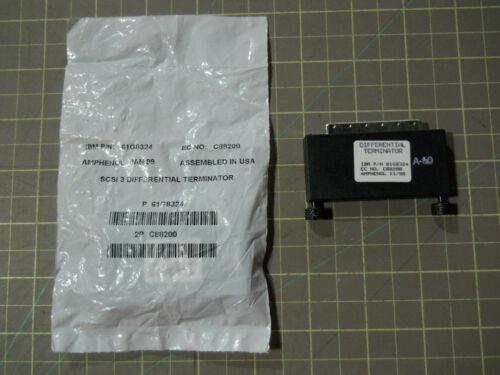 Unused IBM 61G8324 68-pin SCSI Differential Terminator Amphenol C88200