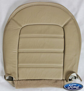 2005 ford explorer xlt xls driver bottom replacement leather seat cover tan. Black Bedroom Furniture Sets. Home Design Ideas