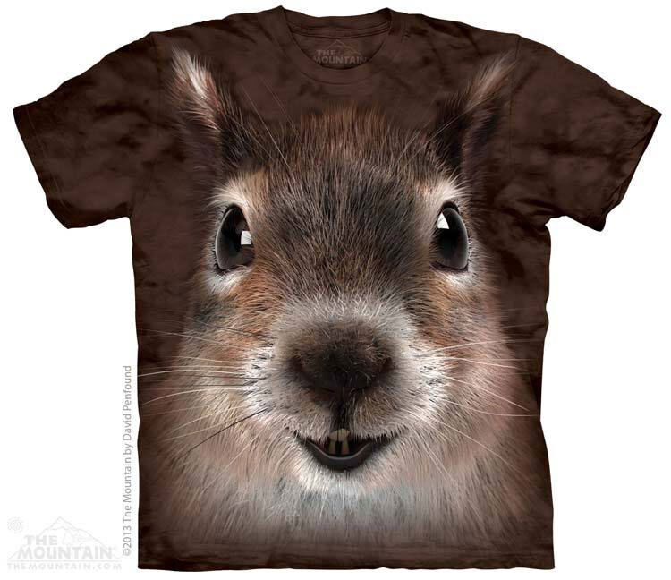 NEW SQUIRREL FACE Woodland Garden The Mountain T Shirt Adult Sizes