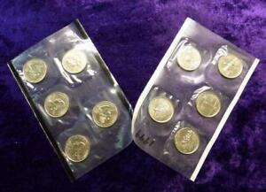 1999-P-amp-D-Mint-Set-of-10-Uncirculated-Coins-Still-Sealed-in-Cellos-Delaware