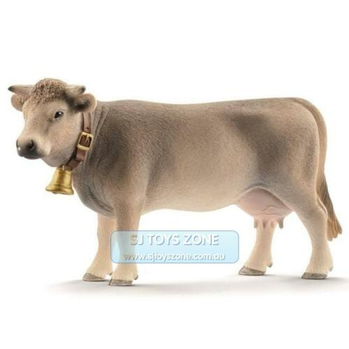 Schleich Braunvieh Cow Animal Model Toy Figurine Made in Germany