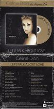 """CD CARDSLEEVE CÉLINE DION LET'S TALK ABOUT LOVE """"LES DISQUES D'OR"""" FRANCE 2014"""