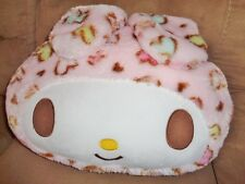 "Hello Kitty Pink Easter Bunny 16"" Pillow Pastel Hearts Sanrio Soft Stuffed Plush"