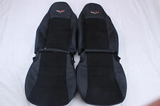 Custom Made 05-11 Real Leather Corvette C6 standard Sport Seat Covers Suede