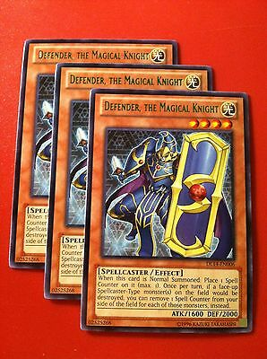 3x Yugioh DL14-EN006 Defender the Magical Knight GREEN Rare Duelist League NM x3