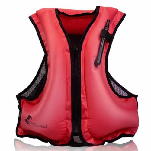 Adults Inflatable Life Jacket Snorkeling Kayak Swimming Surfing Aid Zip Vest