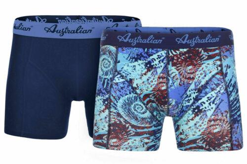 Australian hommes Boxer sous-vêtements 2er-Pack 1 xnavy 1 xmotiv