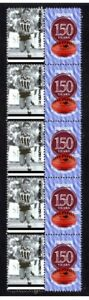 PORT-ADELAIDE-FC-150th-of-FOOTBALL-STRIP-OF-10-VIGNETTE-STAMPS