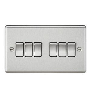 Knightsbridge 10A 2 Way Pull Cord Switch Brushed Chrome x1