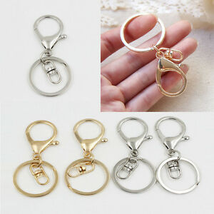 5x-Gold-Silver-Key-Chain-Keyring-Lobster-Claw-Trigger-Swivel-Clasps-Key-Ring