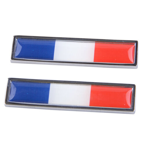 2pcs France French Flag Emblem Badge Decal Sticker Logo Signs for Car Motorcycle