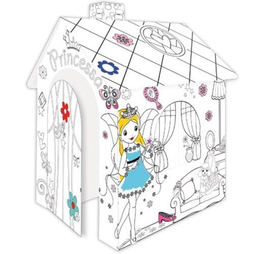 Spielhaus aus Pappe Pappspielhaus zum Bemalen Prinzessin Kartonhaus malen