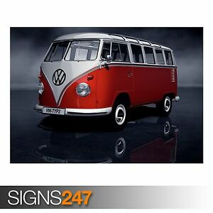 CLASSIC CAR POSTER Photo Picture Poster Print Art A0 A1 A2 A3 A4 AA896 VW