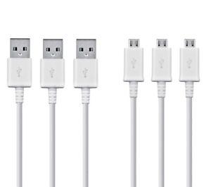 3x-Original-Samsung-Schnellladekabel-Ladekabel-USB-Daten-Kabel-Weiss-Schwarz-1M