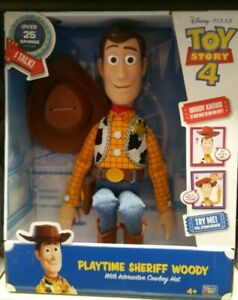 Toy Story Playtime Sheriff Woody With Interactive Cowboy ...