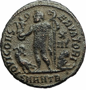 LICINIUS-I-Constantine-I-enemy-321AD-Authentic-Ancient-Roman-Coin-JUPITER-i77103