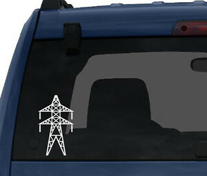 Transmission tower Power Line Electricity Industry #8 Car Tablet Vinyl Decal