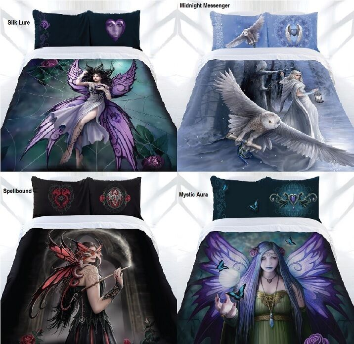 Stunning   Anne Stokes Gothic Fairy Angel Quilt Cover Set - DOUBLE QUEEN KING