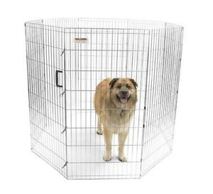 Precision pet silver pro handlers dog puppy pen 48 for Precision dog training