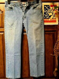Levi-039-s-501-Jeans-Distressed-Faded-Hippie-Boho-chic-punk-Hobo-Denim-34x30