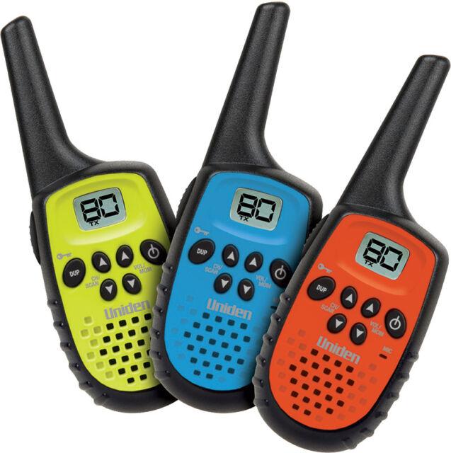 UNIDEN UH35-3 0.5W 1/2 UHF HANDHELD RADIOS 1/2 TRIPLE SET COMPACT 3 RADIOS TOTAL