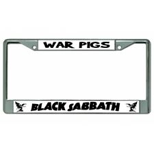 Black Sabbath Script Photo License Plate