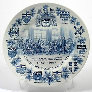 Image Is Loading Vintage Canada Confederation Plate English Wood Amp Sons