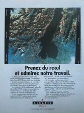 6/1990 PUB ALCATEL ESPACE SPACE SATELLITE SPOT 2 ORIGINAL FRENCH AD