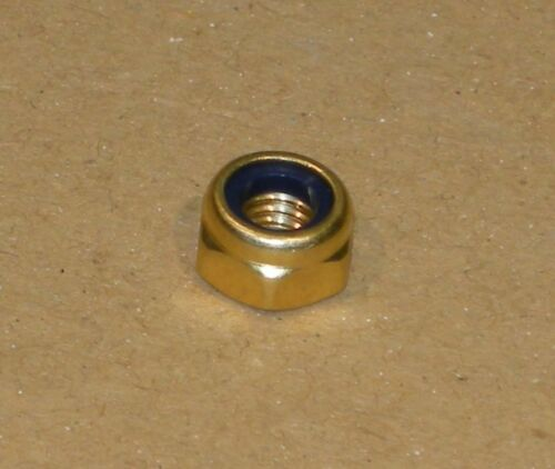 Solid Brass Nylon Lock Nuts Metric Sizes Thin Grade British Sourced 24 pcs